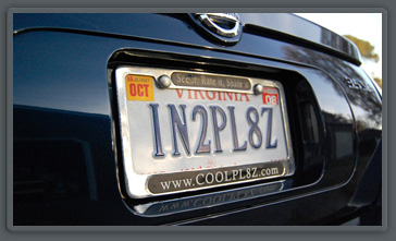 CoolPL8Z.com is all about vanity plates.